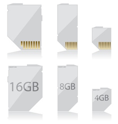 Memory card white vector