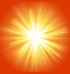 Glowing light yellow orange burst vector