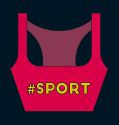 Icon in flat design sports top vector