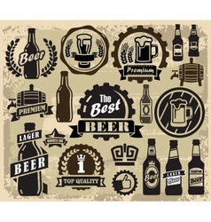 Beer pub labels vector
