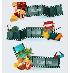 Cinema banners set vector