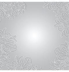 Floral vintage pattern on light background vector image