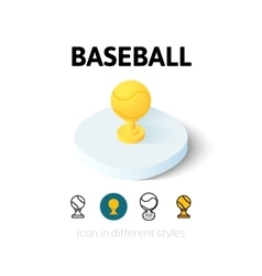 Baseball icon in different style vector