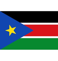 Flag of south sudan vector