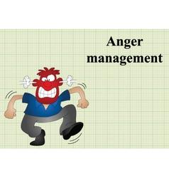 Anger management vector