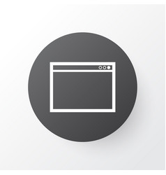 Application window icon symbol premium quality vector