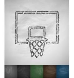 Basketball hoop icon vector