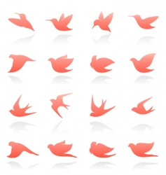 Bird logo set vector