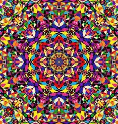 bright geometric seamless kaleidoscope pattern vector image vector image