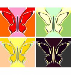 butterfly colorful summer wallpaper vector image vector image