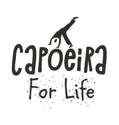 capoeira brazilian dance of african origin poster vector image