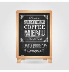 Chalk drawings Retro typography Coffee vector image