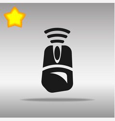 Computer mouse wi fi black icon button logo symbol vector
