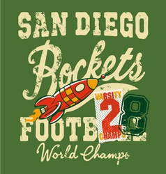Cute rockets football team vector image
