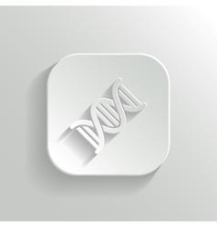 DNA icon - white app button vector image vector image