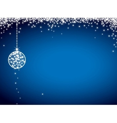 Glitter christmas card vector image