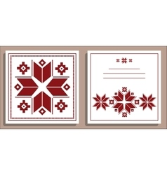 Greeting card with folk scandinavian and nordic vector