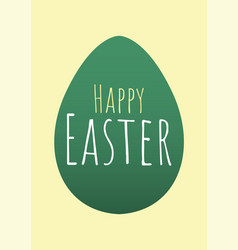 Happy easter greeting card with easter egg vector