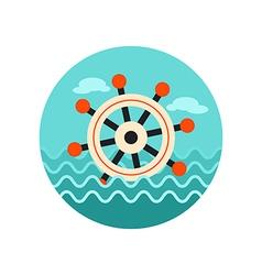 Helm icon summer marine vector