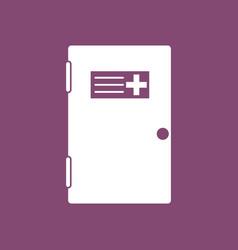 icon doctors door vector image vector image