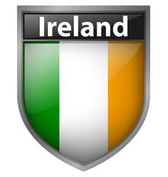 Ireland flag design on badge vector