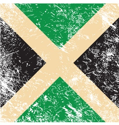 Jamaica retro flag vector image