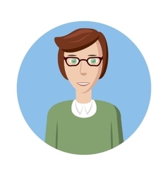 Man with glasses avatar icon cartoon style vector image