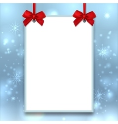 Mockup christmas poster empty blank a4 size vector