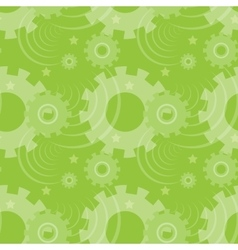 Pattern with green gears creative vector