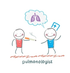 pulmonologist pulmonologist says lung patient who vector image vector image