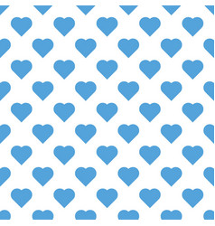 Seamless pattern valentine s day with big sky blue vector