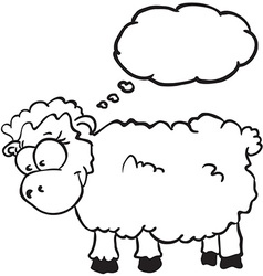 Sheep with thought bubble vector