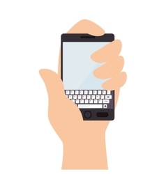 Smartphone screen mobile phone hand icon vector