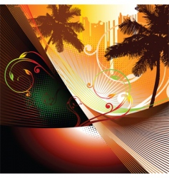 summer abstract vector image vector image