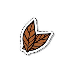 Tobacco leaves doodle icon vector
