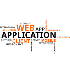 word cloud - web application vector image