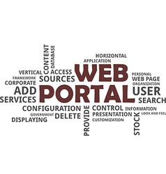 Word cloud web portal vector