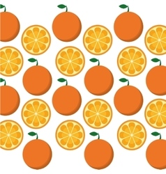 Orange fruits background design vector