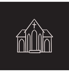Church sketch icon vector