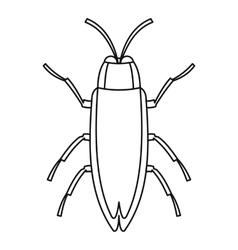 Beetle icon outline style vector