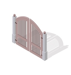 Metal gate icon in isometric projection vector