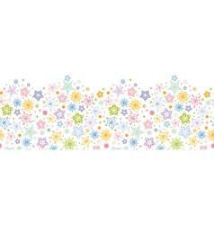 Colorful stars horizontal seamless pattern vector image