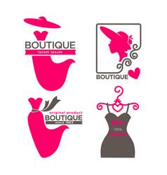 Different boutique emblems vector