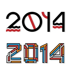 Design happy new year 2014 vector