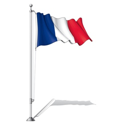 Flag pole france vector