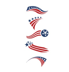 USA star flag and stripes design elements vector image