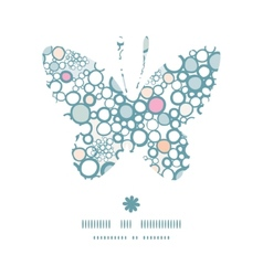 Colorful bubbles butterfly silhouette pattern vector