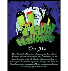 Halloween poster with the text happy halloween vector