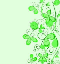 Abstract spring pattern vector