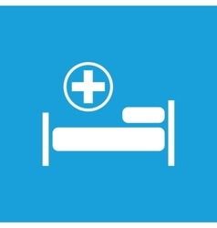 Hospital bed icon white vector